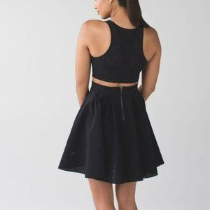 Lululemon Away Dress Perforated Cut Out Flare